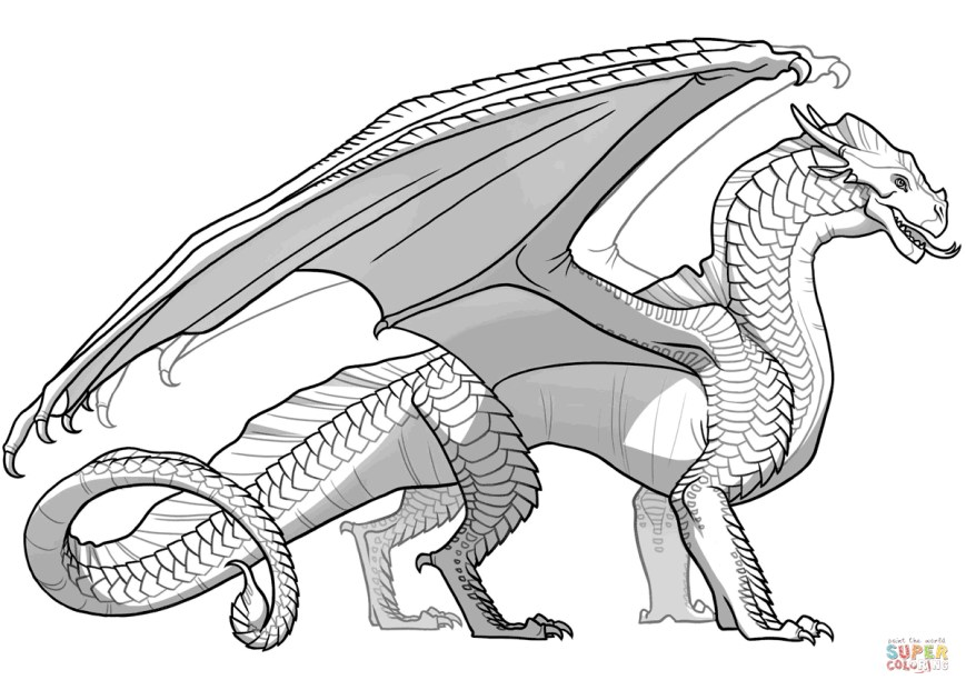 Coloring Pages Dragons Coloring Pages Dragons Wings Of Fire Sandwing Dragon Page Free