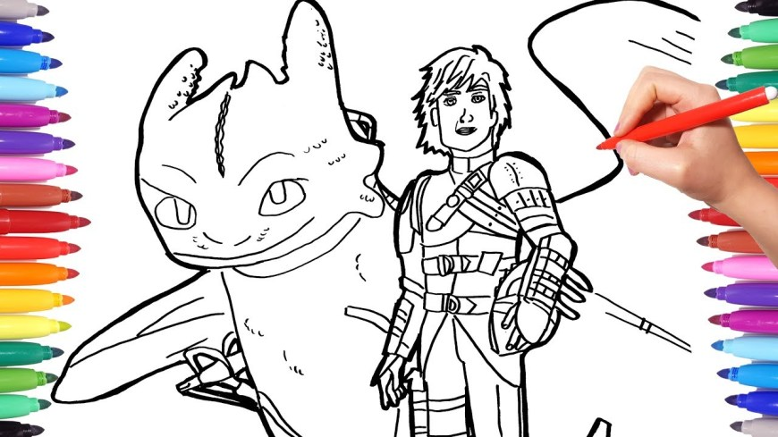Coloring Pages Dragons Dragon Trainer 3 Coloring Pages Watch How To Draw Hiccup Toothless