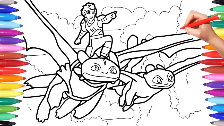 Coloring Pages Dragons How To Train Your Dragon 3 Coloring Pages Coloring Hiccup And