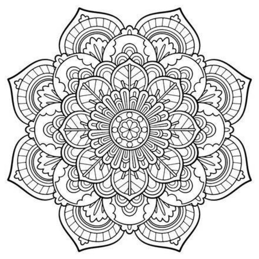 Coloring Pages Mandala Coloring Pages Mandala Engaging Free Printable Mandalas 18