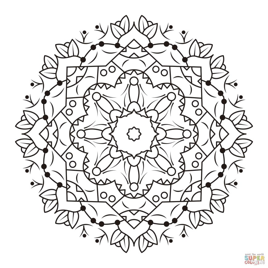 Coloring Pages Mandala Floral Mandalas Coloring Pages Free Coloring Pages