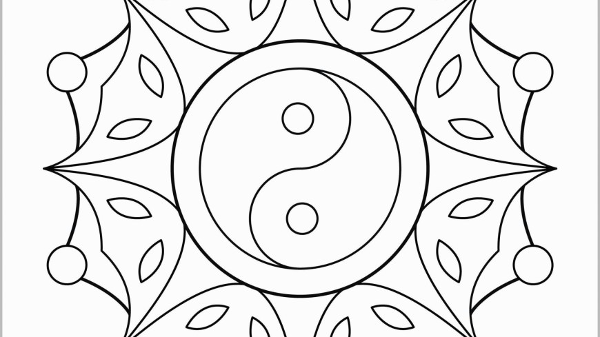 Coloring Pages Mandala Phenomenal Yin Yang Mandala Coloring Pages Collection Free Printable