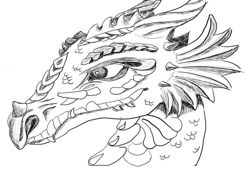 Coloring Pages Of Dragons Free Printable Dragon Coloring Pages For Kids Horses 9 13001127