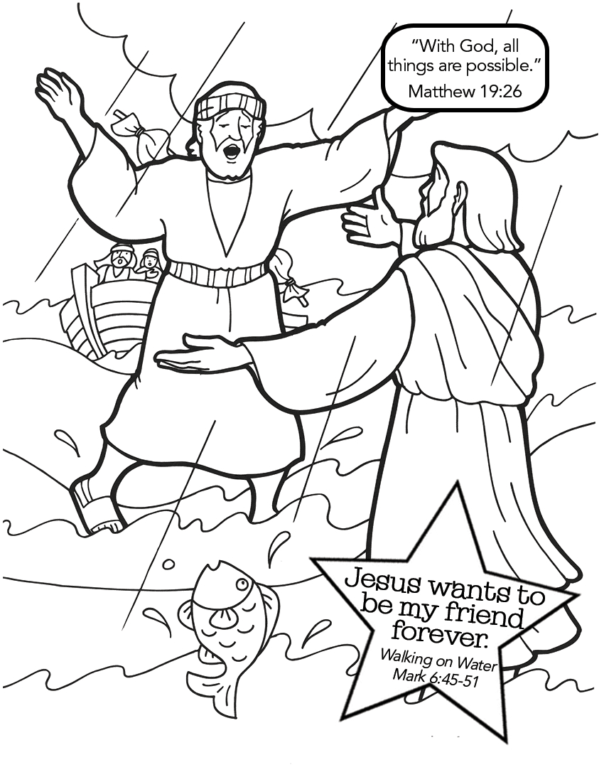 Coloring Pages Of Jesus Coloring Page Coloring Page Jesus Walks On The Water Pages 44