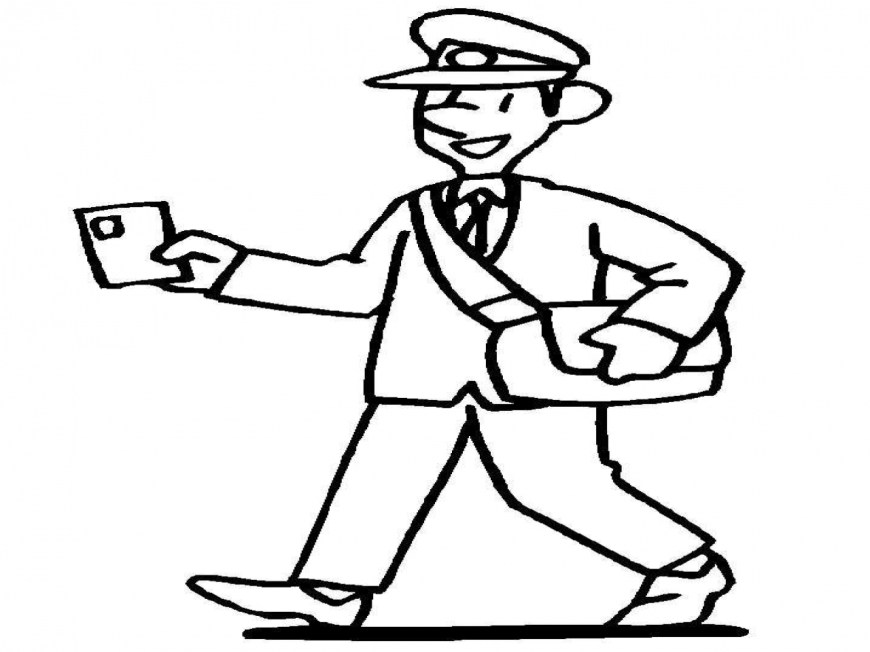 Community Helpers Coloring Pages Postman Community Helpers Coloring Pages Coloringsuite