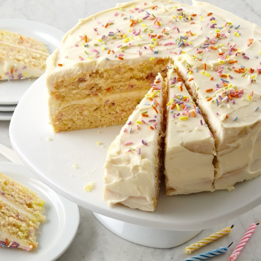 Confetti Birthday Cake Confetti Birthday Cake Recipe Eatingwell