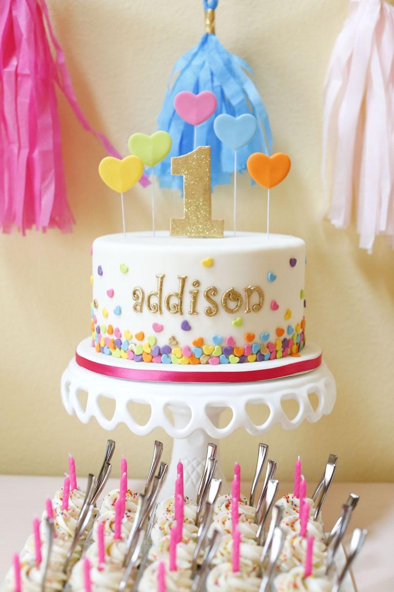 Confetti Birthday Cake Deanna Pappas Daughters Birthday Party Childrens Birthday Cakes