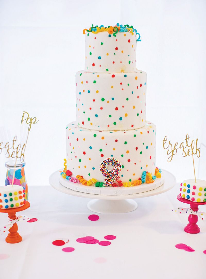 Confetti Birthday Cake Sprinkle Dot Fun Rainbow Birthday Blast Brookes Sprinkles And