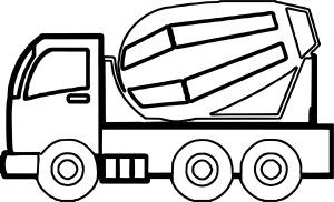 Construction Coloring Pages Construction Cement Truck Coloring Page Wecoloringpage