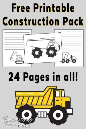 Construction Coloring Pages Free Road Construction Printable Handwriting Notebooking And