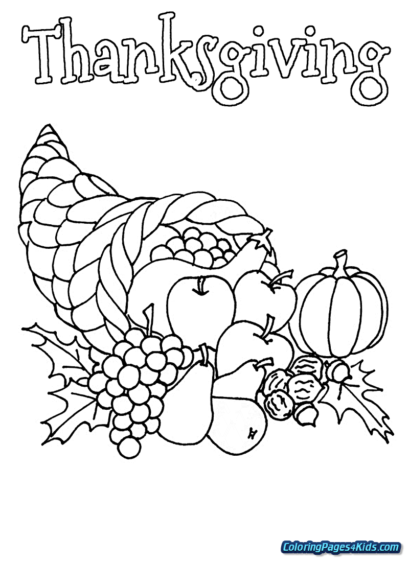 Cornucopia Coloring Pages Cornucopia Coloring Pages Printable Free Printable Coloring Pages