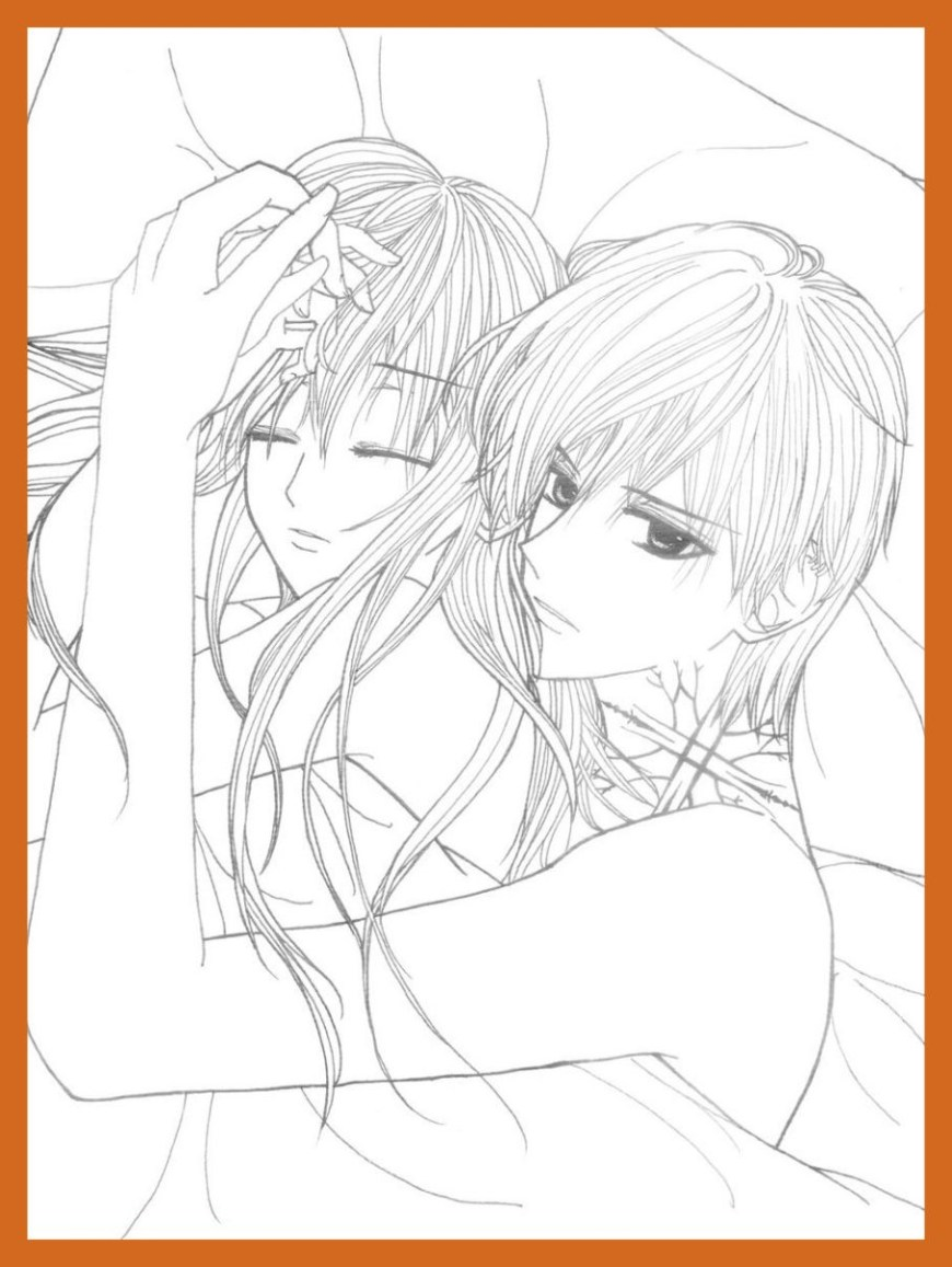 Couple Coloring Pages Anime Couples Coloring Pages Couple To Print Cute Complete Kids