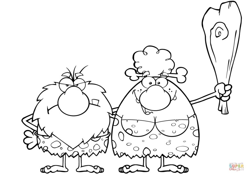 Couple Coloring Pages Caveman Couple Coloring Page Free Printable Coloring Pages
