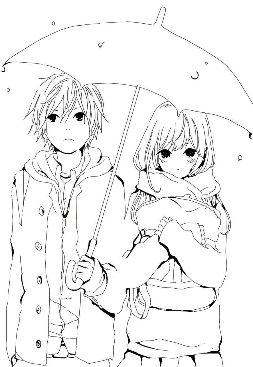 Couple Coloring Pages Cute Anime Couple Coloring Pages Xyzcoloring