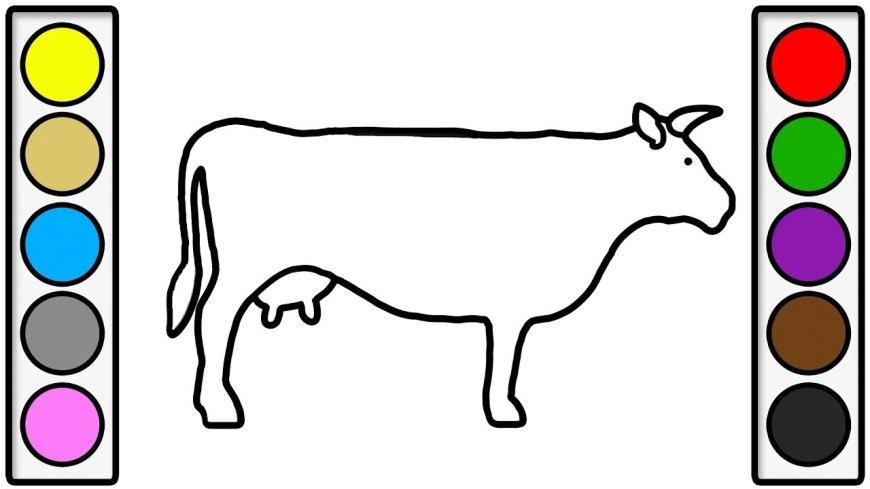 Cow Coloring Page Coloring Page For Kids With Big Cow Colouring Book For Children