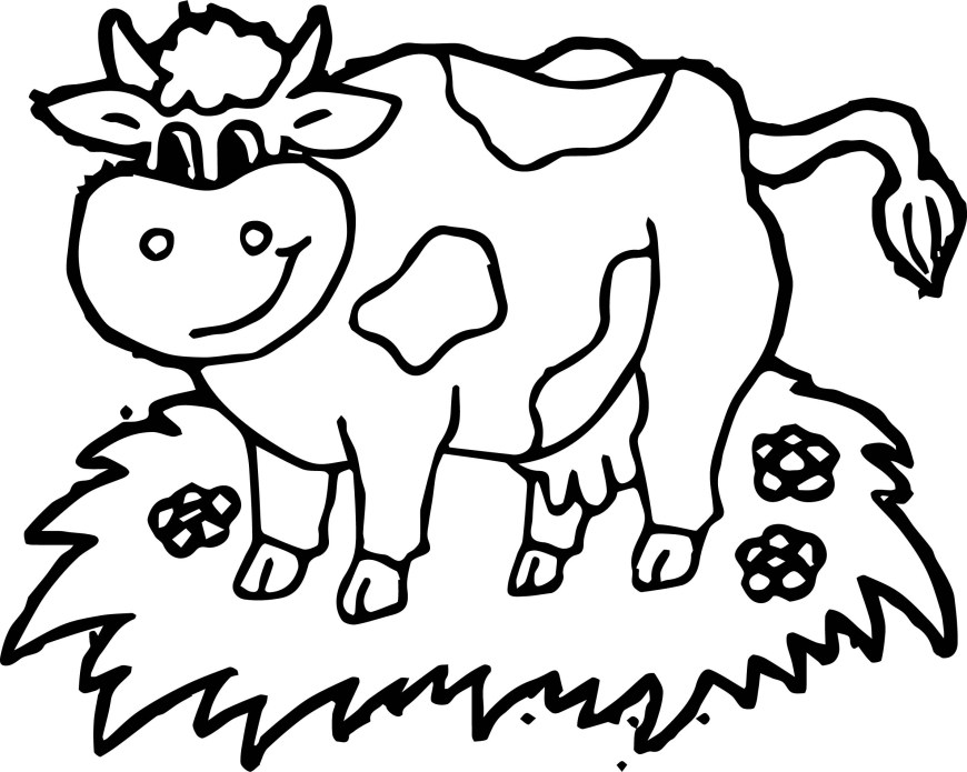 Cow Coloring Page Farm Yard Animal Cow Coloring Page Wecoloringpage
