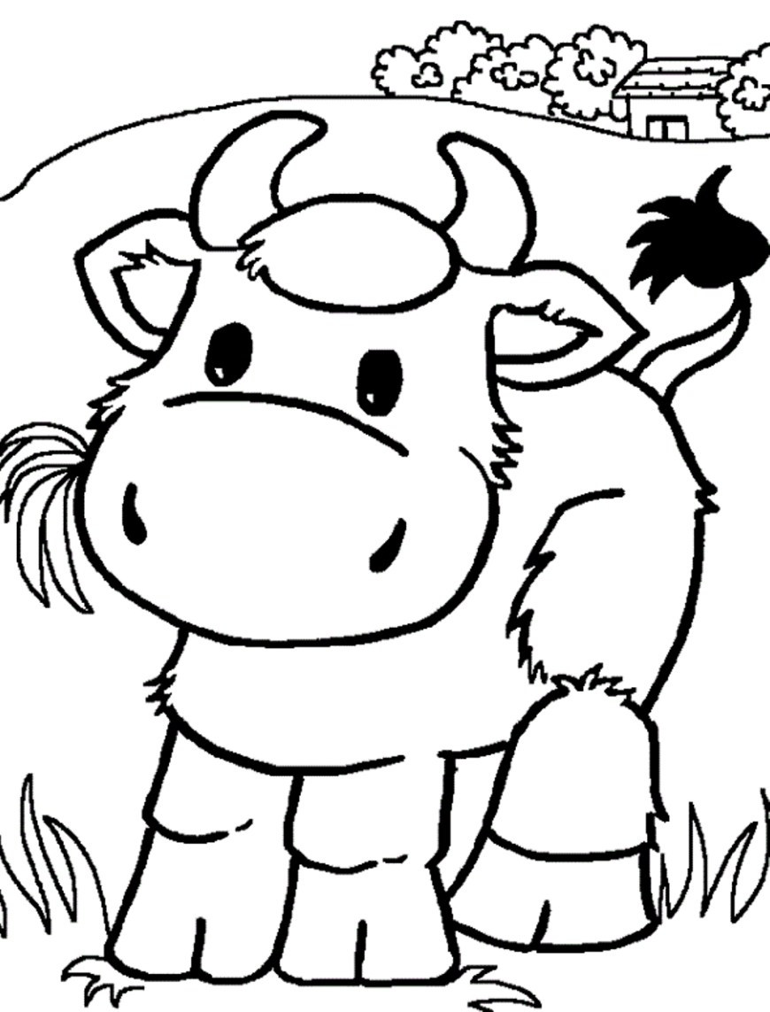 Cow Coloring Page Striking Is For Cow Coloring Page Cattle Pages C Adults Animals