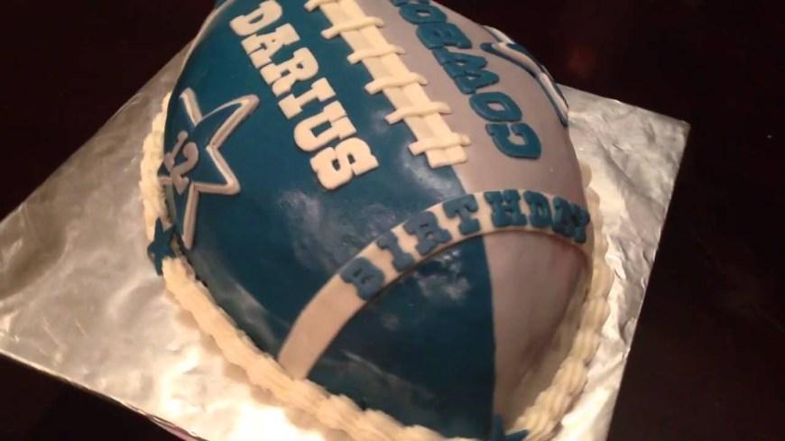 Cowboys Birthday Cake Dallas Cowboys Football Birthday Cake Youtube