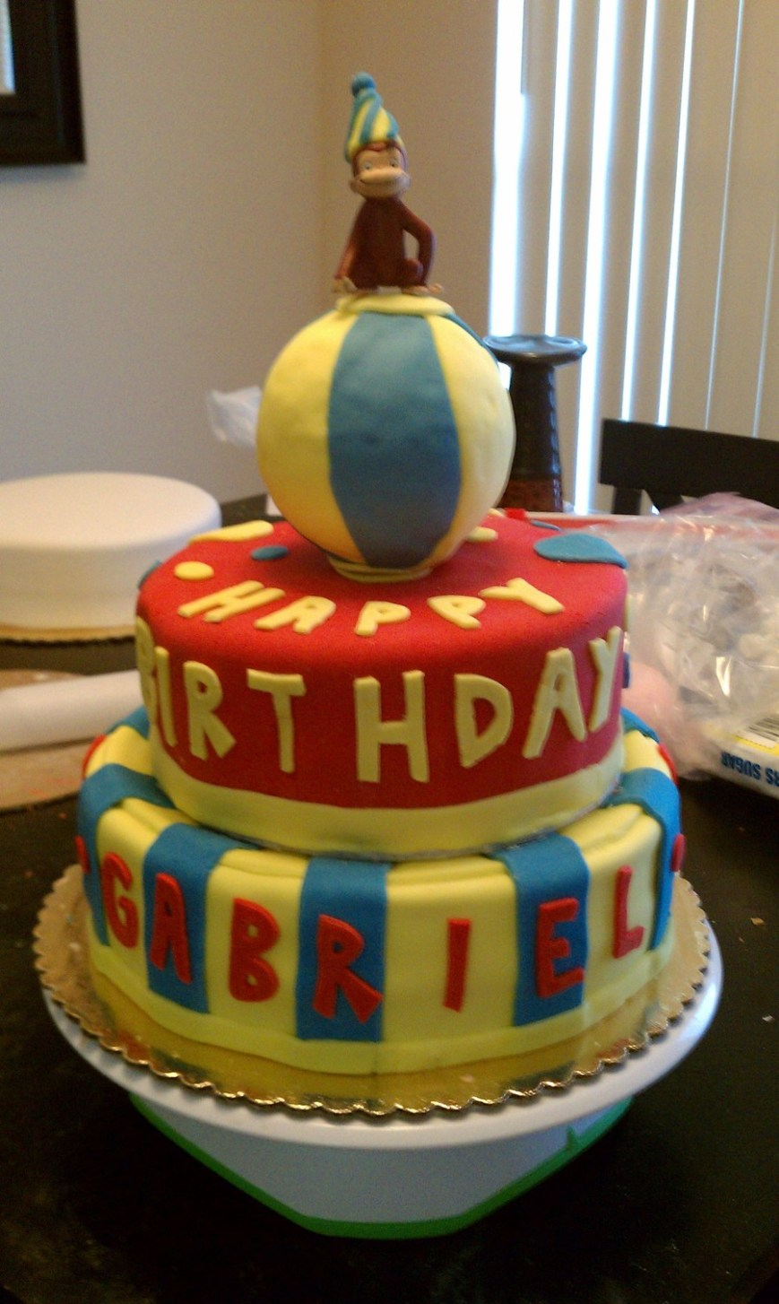 Curious George Birthday Cake Curious George Birthday Cake Cakecentral