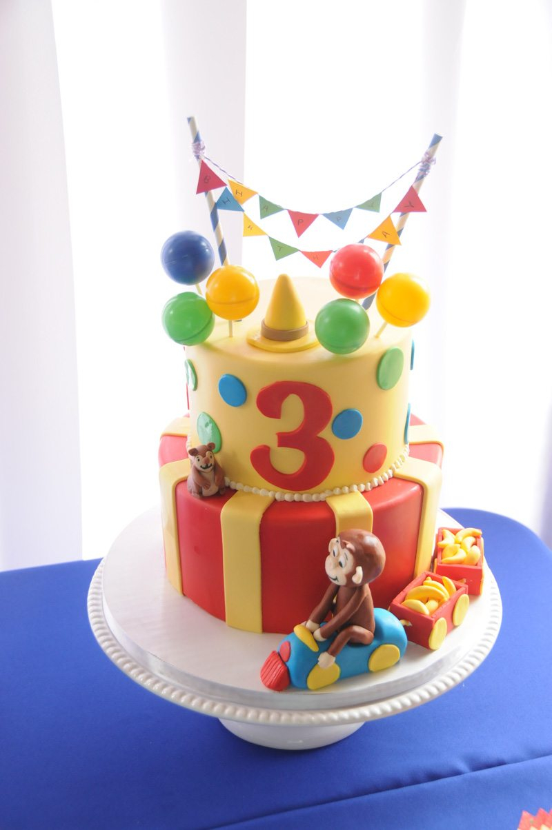 Curious George Birthday Cake Curious George In The Park Birthday Party The Celebration Society