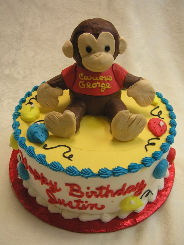 Curious George Birthday Cake Kids Cakes