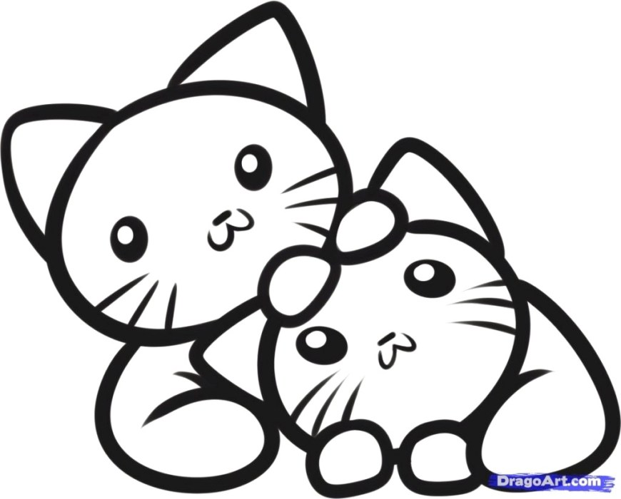 Cute Cat Coloring Pages Cute Kitty Coloring Pages Sizable Of Cats Kitten To Print Google And
