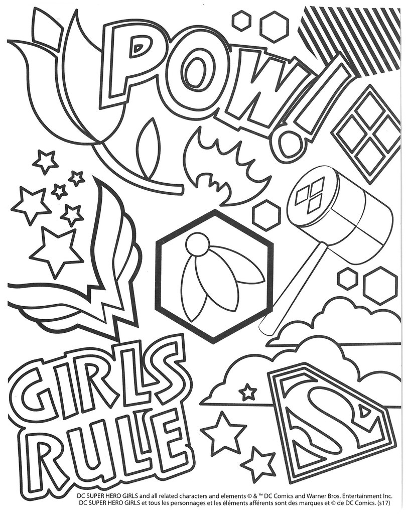 Dc Superhero Girls Coloring Pages Dc Superhero Girls Colouring Pages Selections From The Dcs Flickr