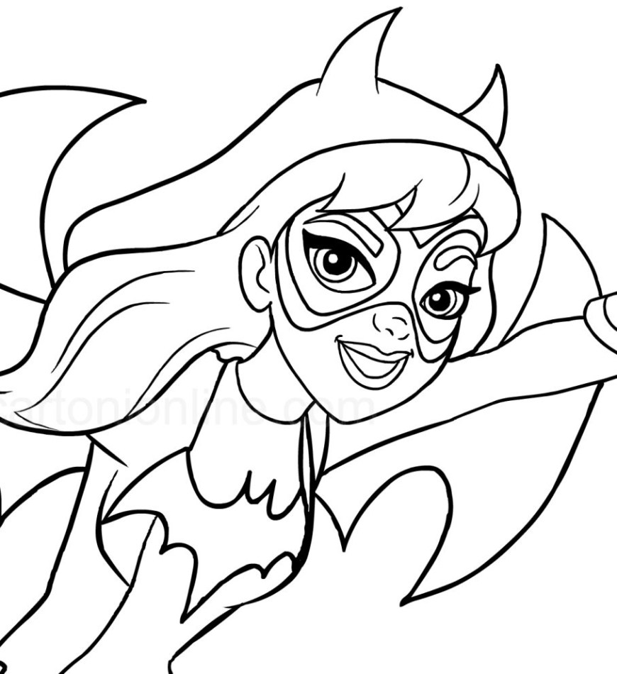 Dc Superhero Girls Coloring Pages Super Hero Girls Coloring Pages At Getdrawings Free For