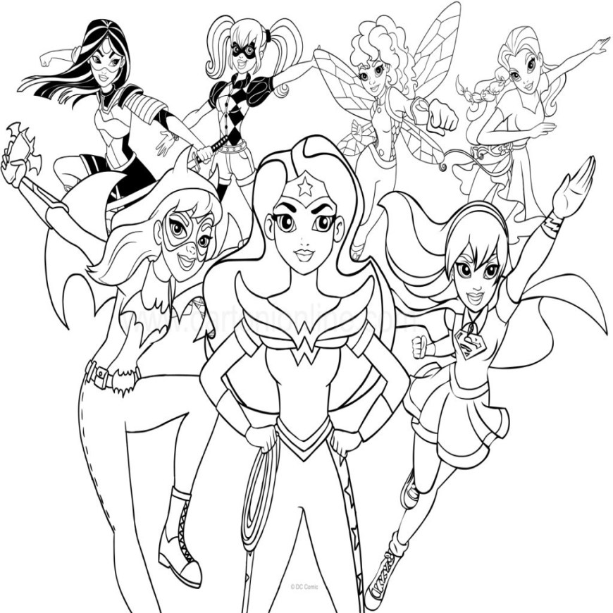 Dc Superhero Girls Coloring Pages Superhero Girl Coloring Pages Coloring Page