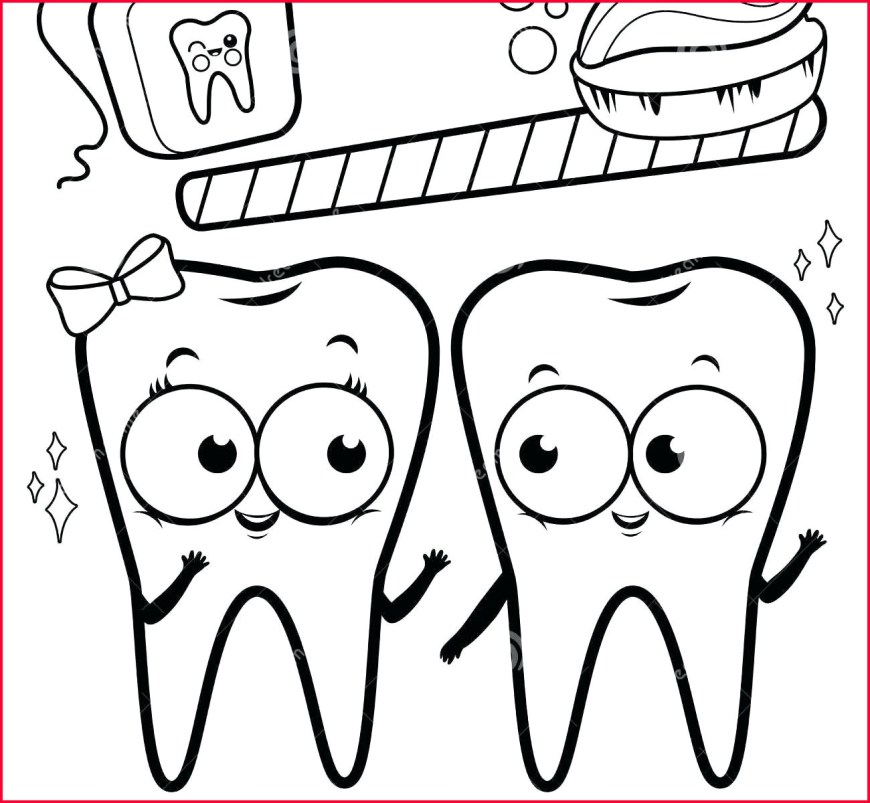 Dental Coloring Pages Cartoon Tooth And Toothbrush Coloring Page Telematik Institut