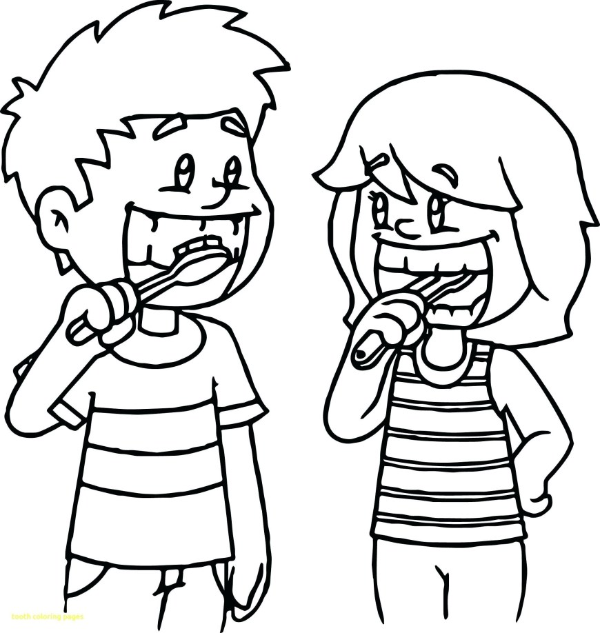 Dental Coloring Pages Dentist Coloring Pages Dental Sheets For Kids On Drawing Tooth New