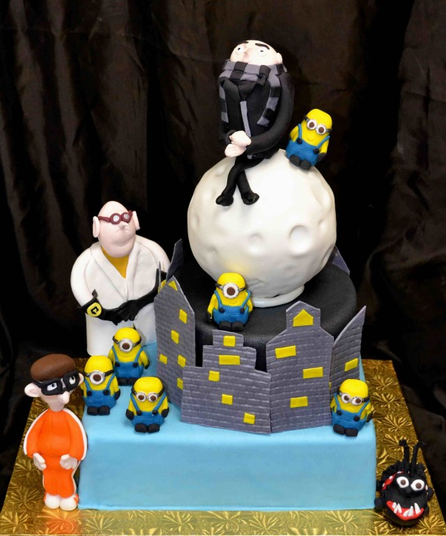 Despicable Me Birthday Cake Despicable Me Birthday Cake With Dr Nafario Gru Vector Kyle And