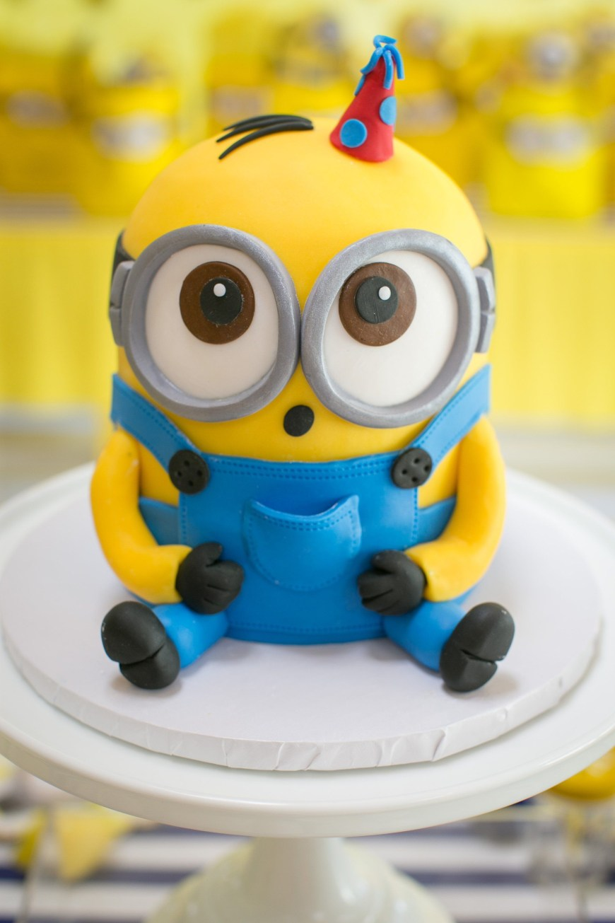 Despicable Me Birthday Cake This One In A Minion Birthday Party Will Have Your Kiddo Going