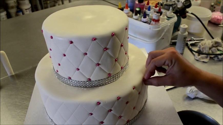 Diamond Birthday Cake How To Make Diamond Patterns Birthday Cake Youtube