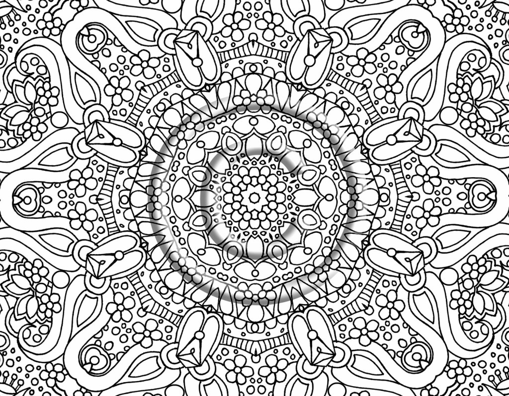 Difficult coloring pages hard flower coloring pages for teenagers