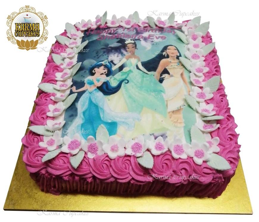 Disney Birthday Cake Disney Princesses Slab Birthday Cake