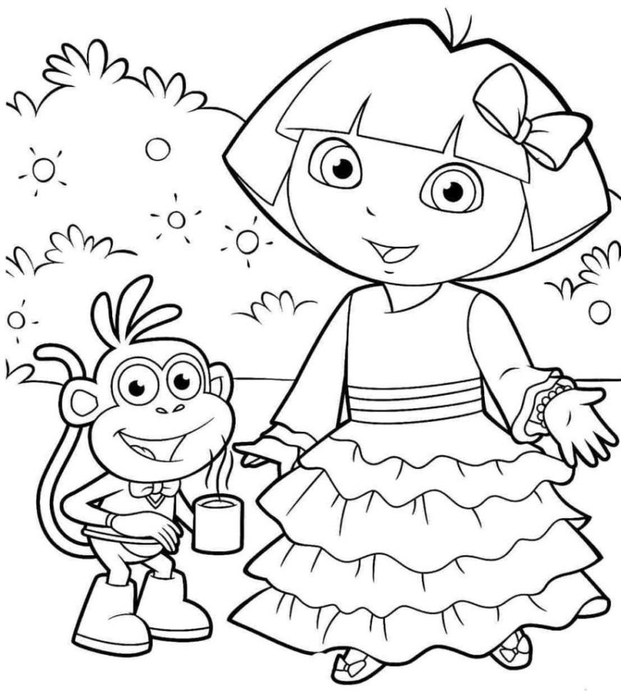 Dora Coloring Pages Dora Coloring Pages For Children 9201024 Attachment Lezincnyc