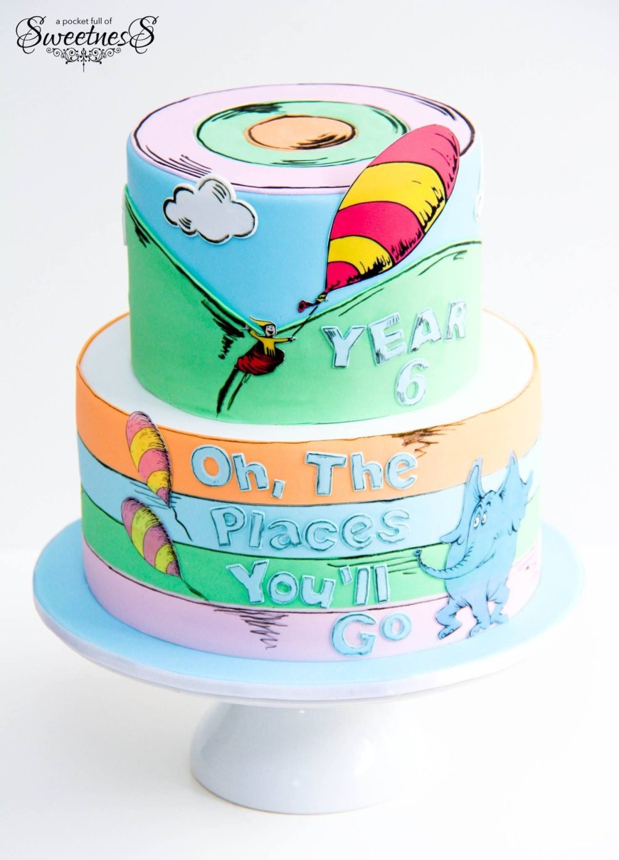 Dr Seuss Birthday Cake Oh The Places Youll Go Dr Seuss Graduation A Pocket Full Of