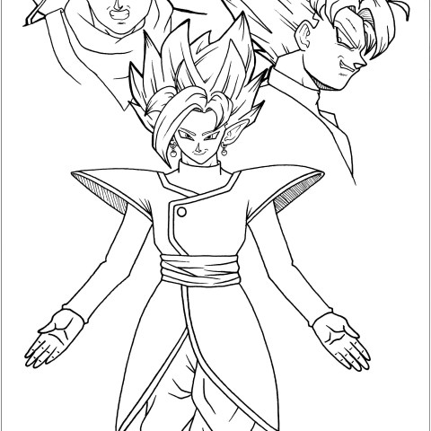 Dragon Ball Super Coloring Pages Black Goku Trunks And Zamasu Dragon Ball Z Kids Coloring Pages