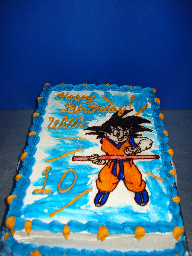 Dragon Ball Z Birthday Cake Dragon Ball Z Birthday Cake Son Loves The Show And Thats Flickr