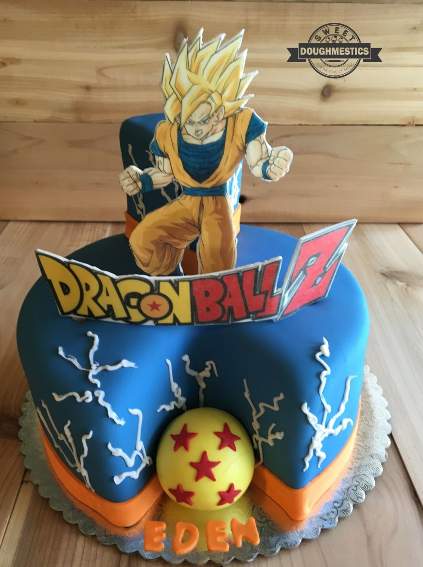 Dragon Ball Z Birthday Cake Dragon Ball Z Cake Sweet Doughmestics Sweet Doughmestics