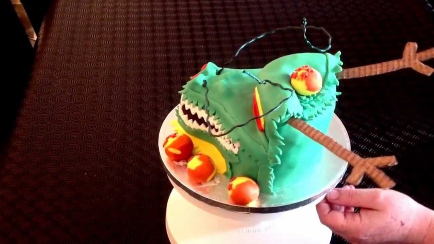 Dragon Ball Z Birthday Cake Dragonball Z Birthday Cake Shenron Dragon Youtube