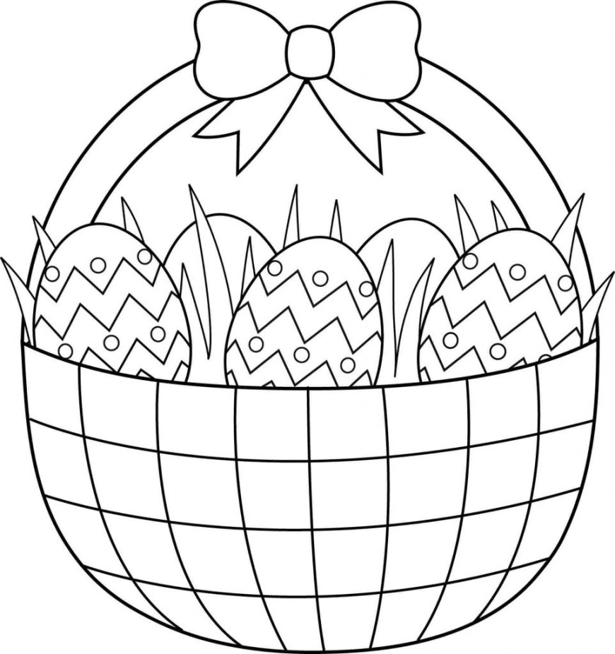Easter Basket Coloring Pages Easter Basket Coloring Pages To Print Dapmalaysia