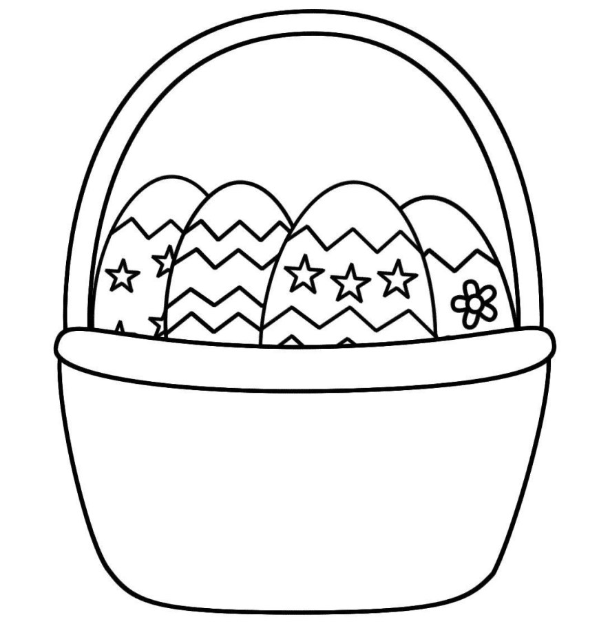 Easter Basket Coloring Pages Lovely Easter Egg Baskets Coloring Pages Howtobeaweso
