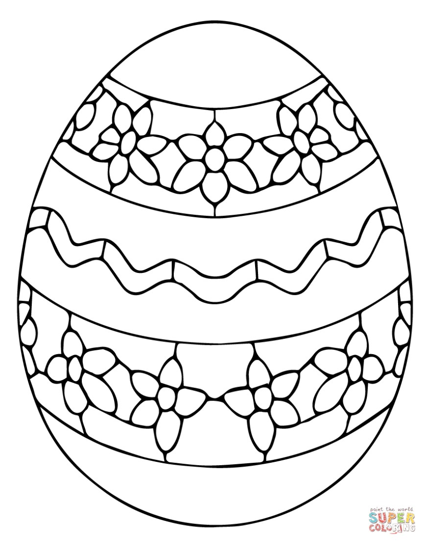 Easter Basket Coloring Pages Ukrainian Easter Egg Coloring Page Free Printable Coloring Pages