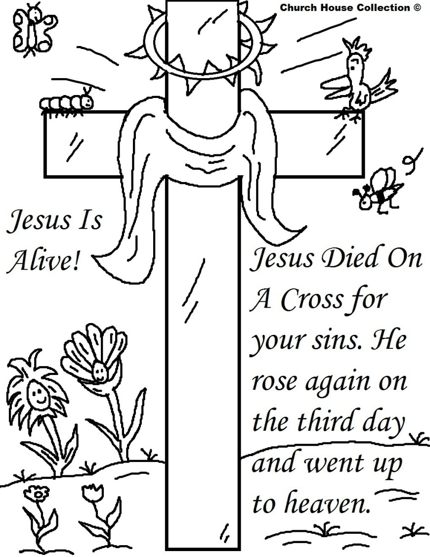 Easter Coloring Pages For Kids 25 Religious Easter Coloring Pages Free Easter Activity Printables