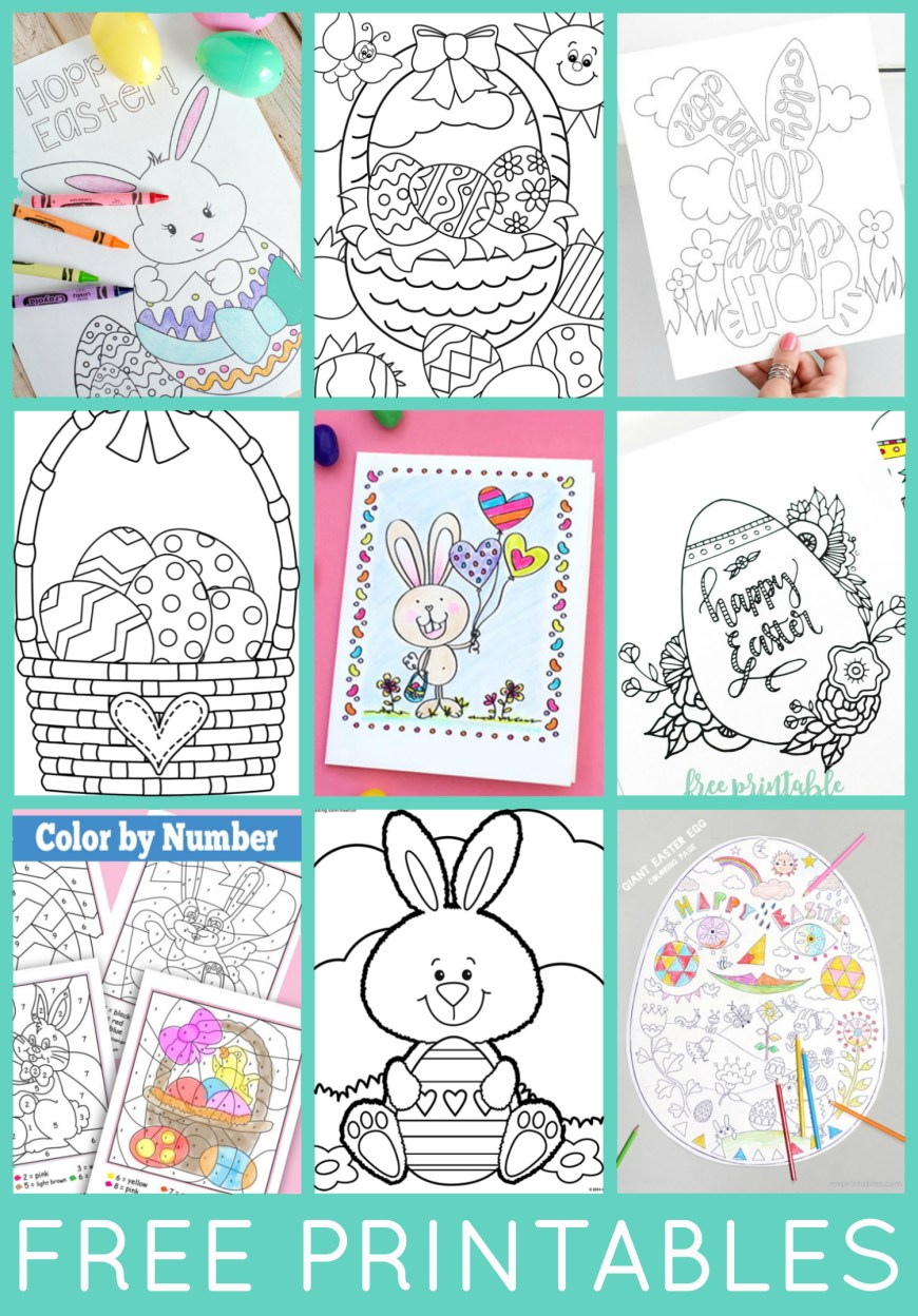 Easter Coloring Pages For Kids Free Easter Coloring Pages Happiness Is Homemade