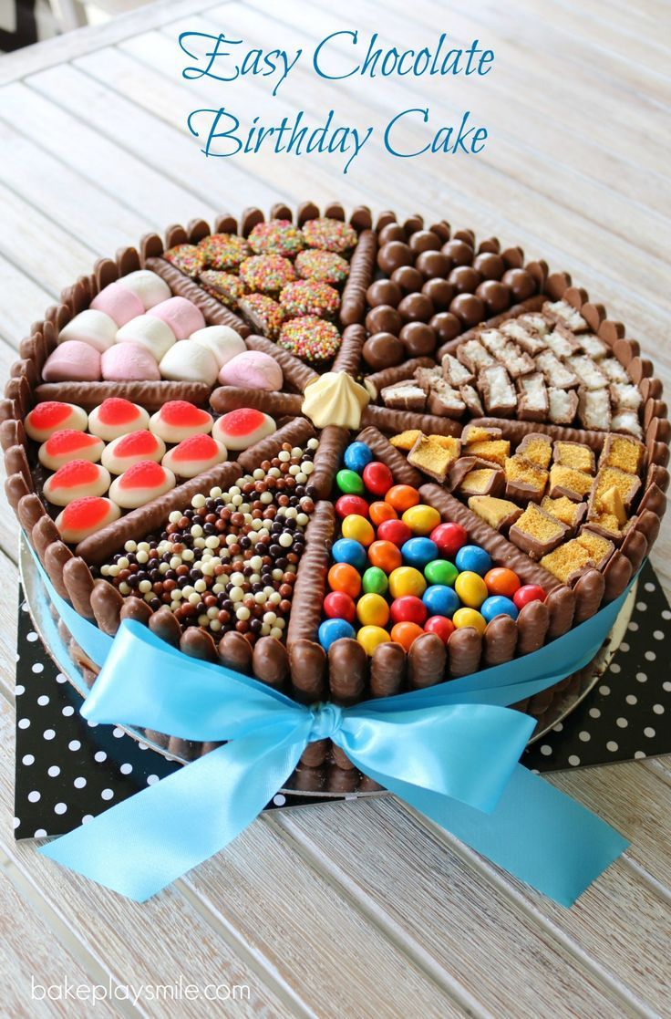 Easy Birthday Cake Recipes Chocolate Recipe Kids Birthdays Pinterest