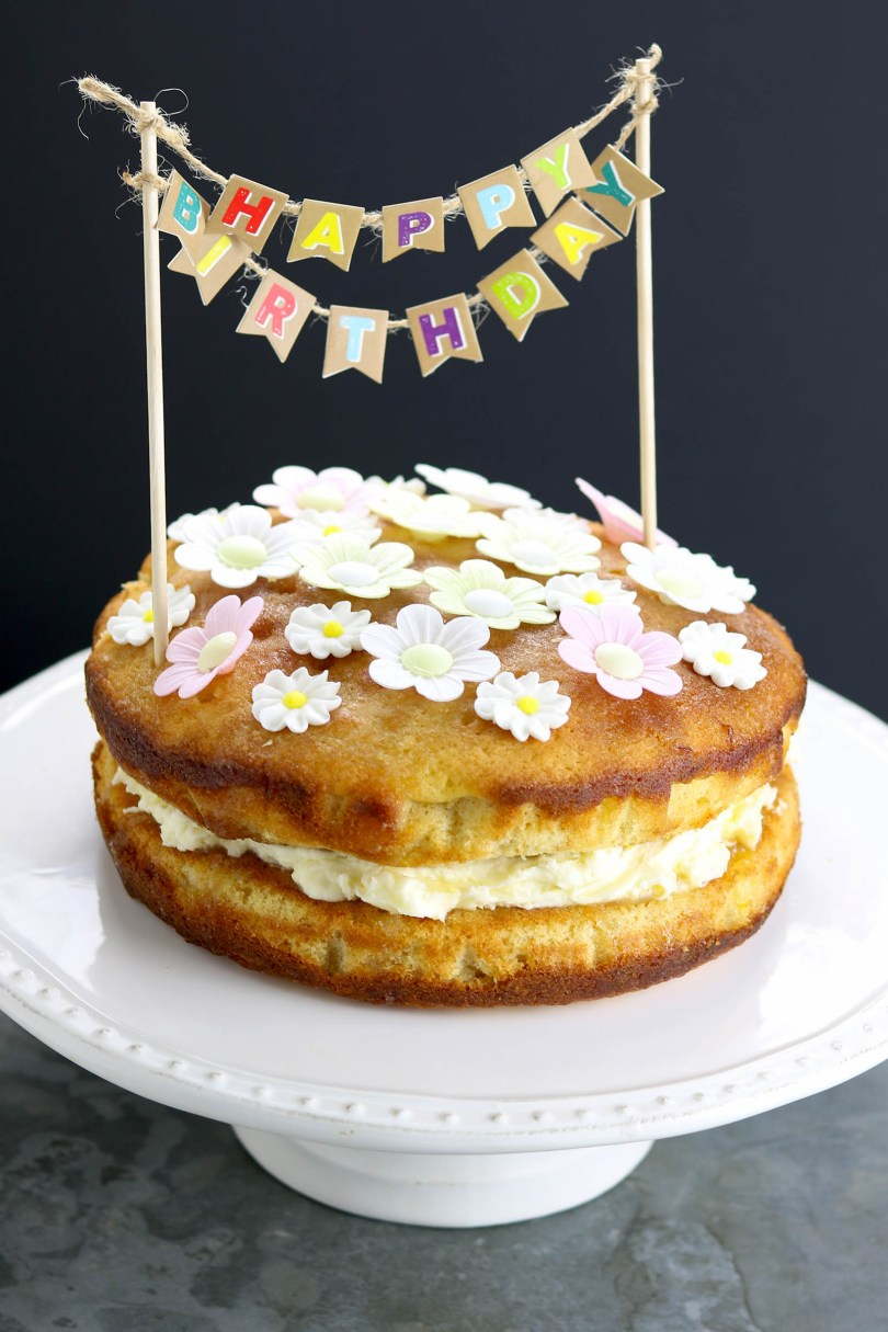 Easy Birthday Cake Recipes Lemon Drizzle Birthday Cake The Last Food Blog