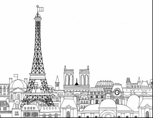 Eiffel Tower Coloring Page Coloring Pages Eiffel Tower Coloring Pictures To Printeiffel Print